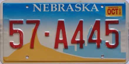 2002 Nebraska  (Single) license plate for sale