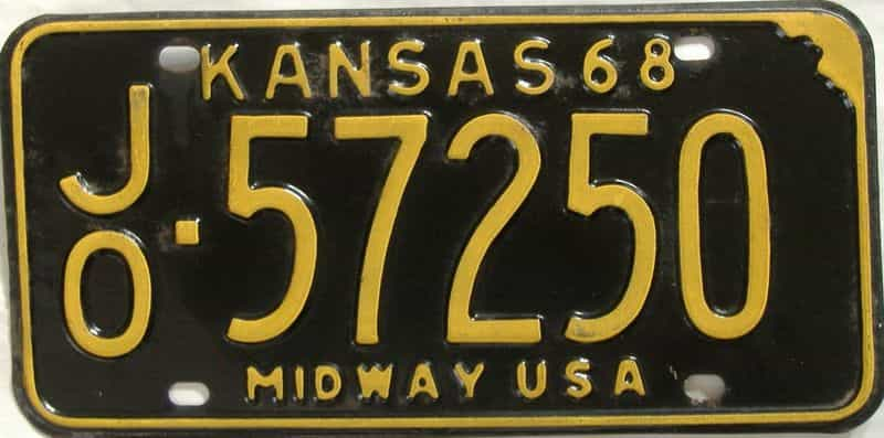 1968 Kansas license plate for sale