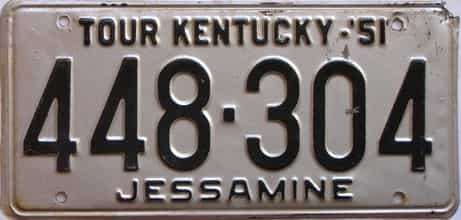 1951 Kentucky license plate for sale