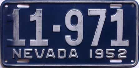 1952 Nevada license plate for sale