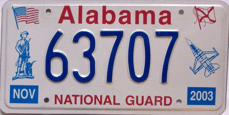 2003 Alabama license plate for sale