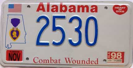 1998 Alabama license plate for sale
