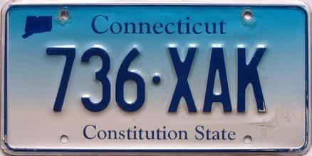 Connecticut  (Single) license plate for sale