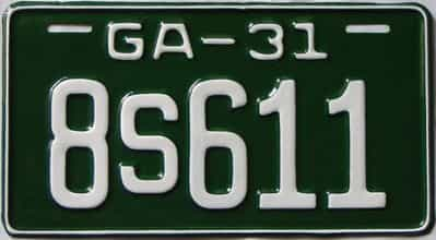 YOM RESTORED 1931 Georgia  (Single) license plate for sale