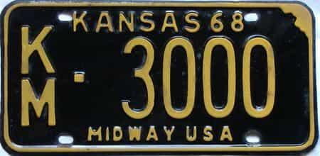 1968 Kansas license plate for sale