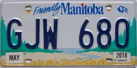 2019 Manitoba  (Single) license plate for sale
