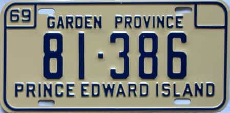 1969 PEI license plate for sale