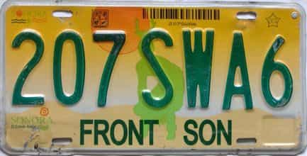 2000 Foreign  (Single) license plate for sale