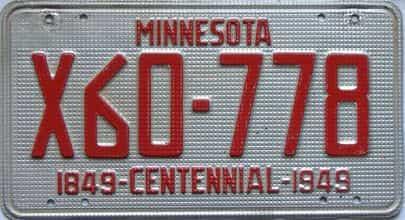 1949 Minnesota  (Truck) license plate for sale