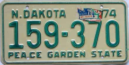 1979 North Dakota  (Single) license plate for sale