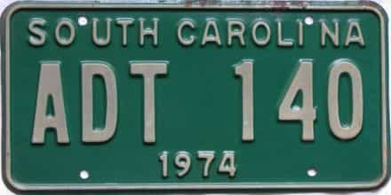 1974 South Carolina  (DMV NOT CLEAR) license plate for sale