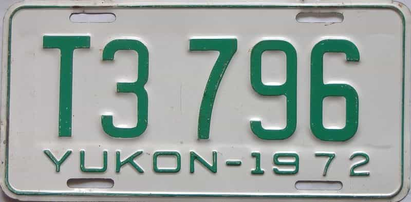 1972 Yukon  (Truck) license plate for sale