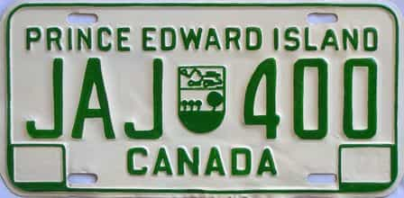 1981 PEI  (Repaint - As Found) license plate for sale