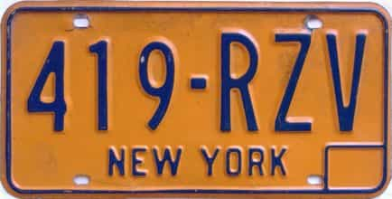 1974 New York  (Single) license plate for sale