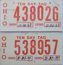 1968 Miscellaneous  (Pair) license plate for sale