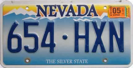 2012 Nevada  (Single) license plate for sale