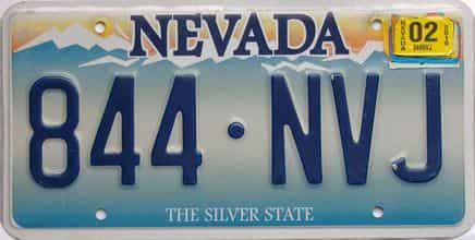 2016 Nevada  (Single) license plate for sale