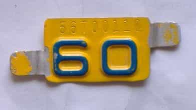 1960 Montana  (Single) license plate for sale