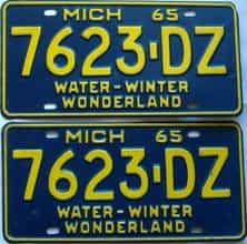 1965 Michigan  (Truck) license plate for sale