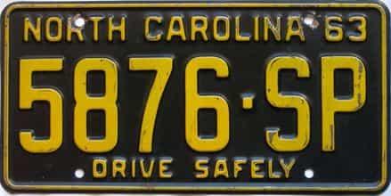 1963 North Carolina  (Truck) license plate for sale