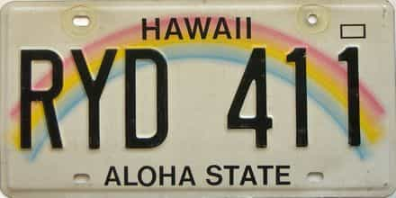Hawaii license plate for sale