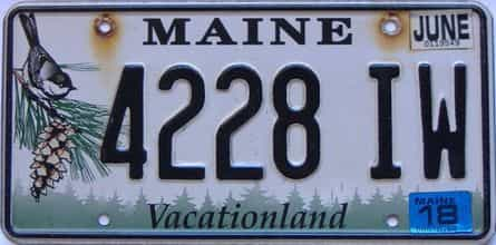 2018 Maine  (Single) license plate for sale