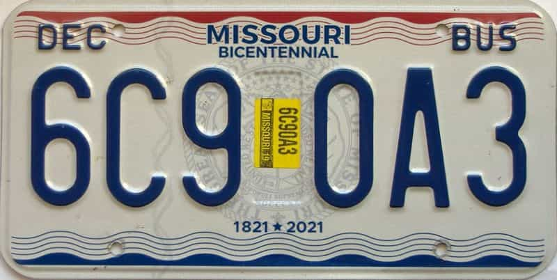 2019 Missouri license plate for sale