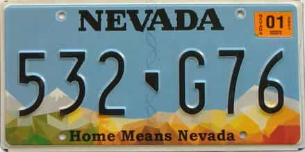 2021 Nevada  (Single) license plate for sale