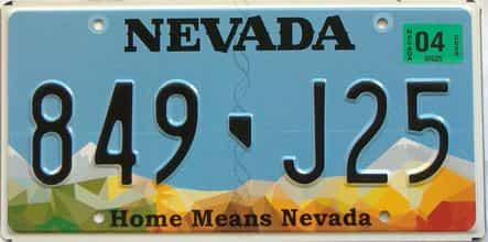 2020 Nevada  (Single) license plate for sale