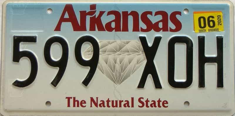 2020 Arkansas license plate for sale