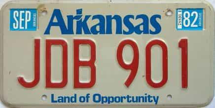 1982 Arkansas license plate for sale