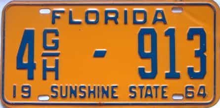 1964 Florida  (Truck) license plate for sale