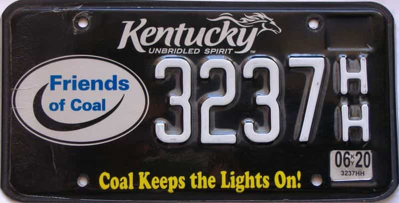 2020 Kentucky license plate for sale