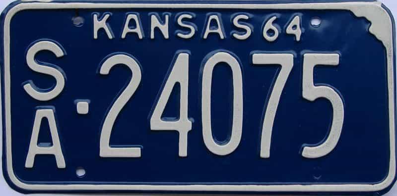 1964 KS license plate for sale