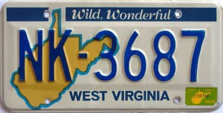 1978 West Virginia license plate for sale