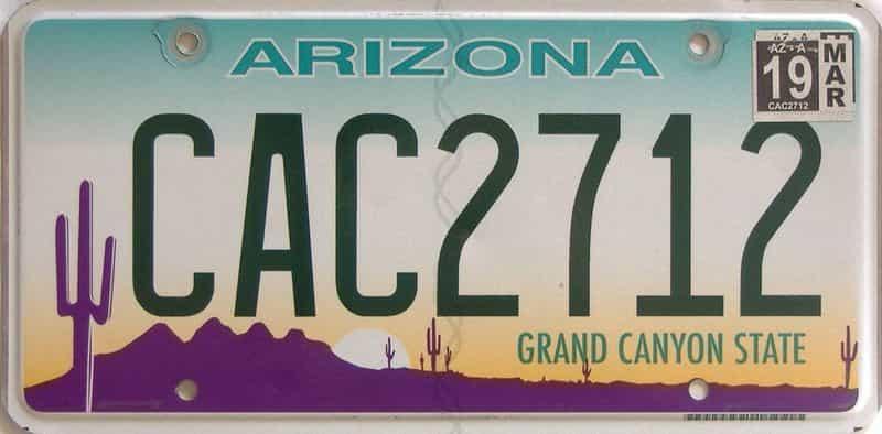 2019 Arizona license plate for sale