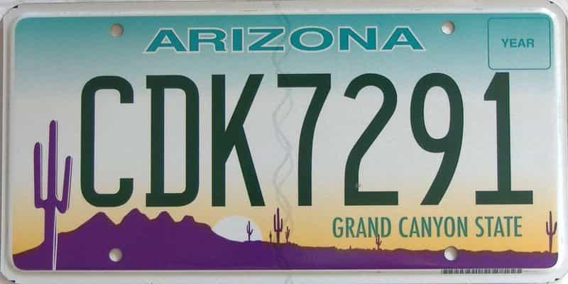Arizona license plate for sale