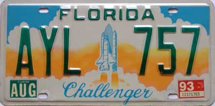 1993 Florida license plate for sale