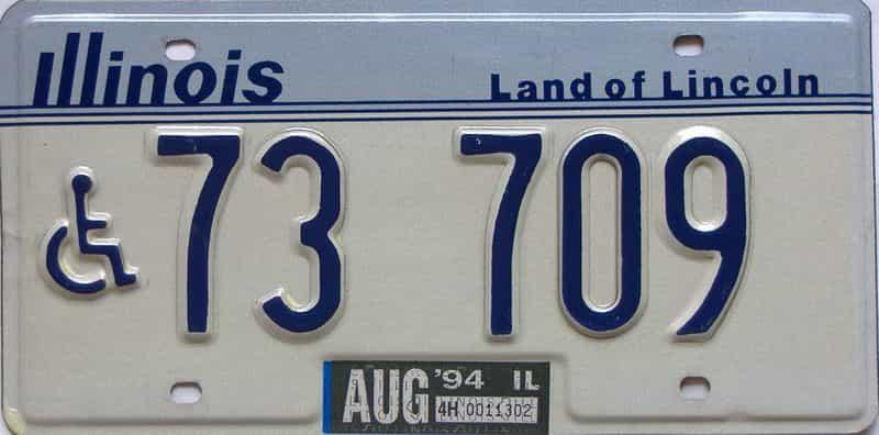 1994 Illinois  (Handicap) license plate for sale