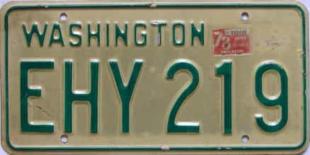 1978 Washington  (Single) license plate for sale