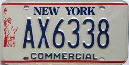 1986 New York  (Non Passenger) license plate for sale