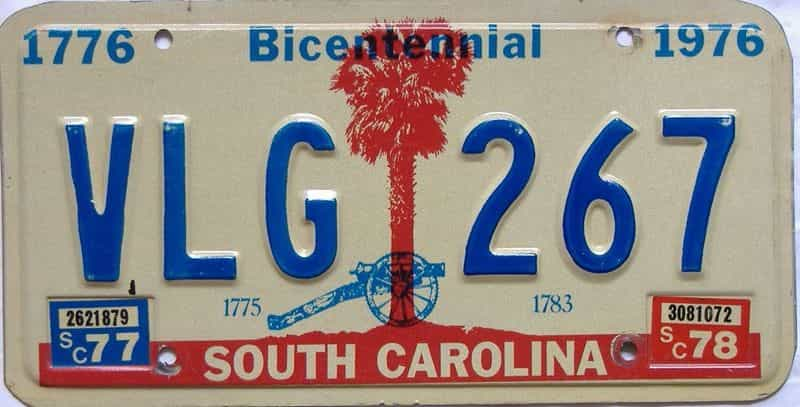 1978 South Carolina license plate for sale