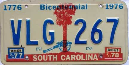 1978 South Carolina license plate for sale