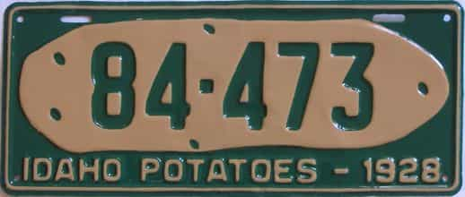 RESTORED 1928 Idaho  (Single) license plate for sale
