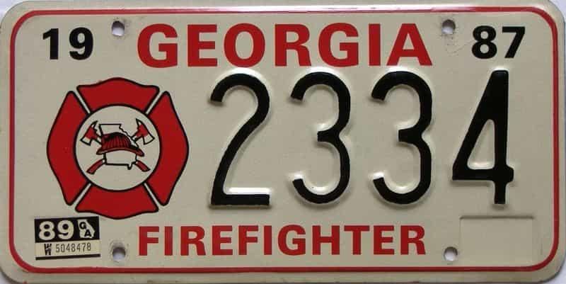 1989 Georgia license plate for sale