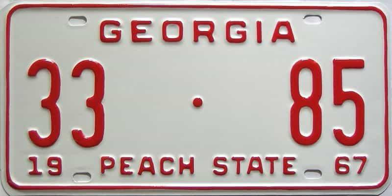 YOM RESTORED 1967 Georgia (Upson) license plate for sale