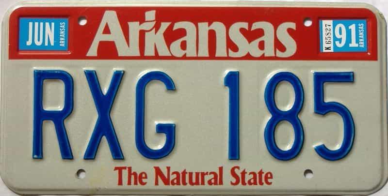 1991 Arkansas license plate for sale