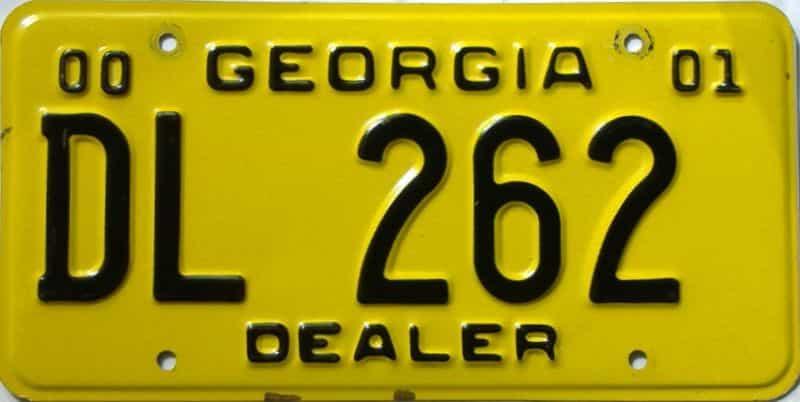2000 Georgia  (Dealer) license plate for sale