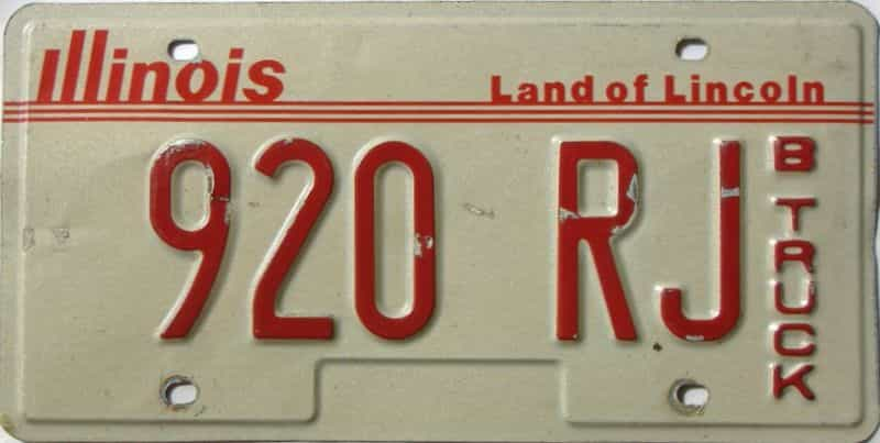 Illinois  (Truck) license plate for sale