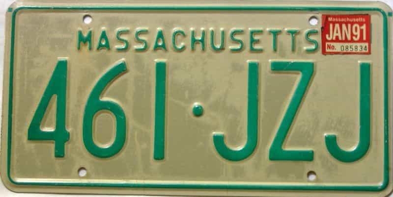 1991 Massachusetts license plate for sale